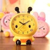 升級版雙鬧鈴夜燈掃秒可愛兒童會說話卡通學生鬧鐘臥室床頭小鬧鐘