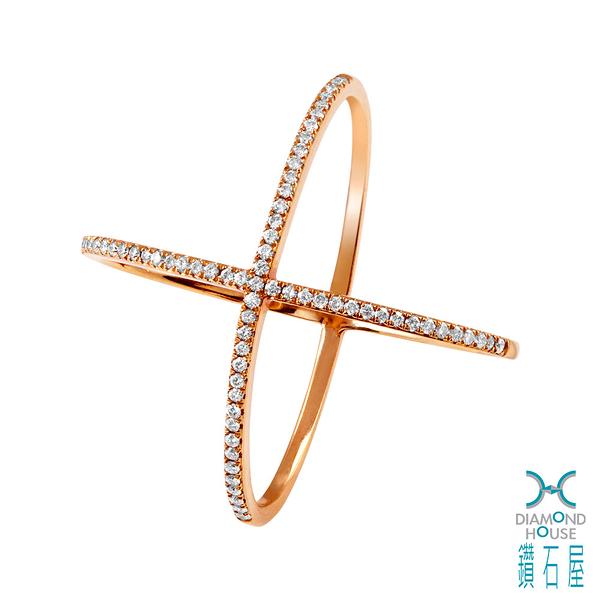 【鑽石屋】造型玫瑰K金戒指