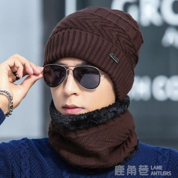 帽子男士冬季毛線帽加厚韓版潮針織套頭帽加絨保暖冬天帽青年棉帽 鹿角巷