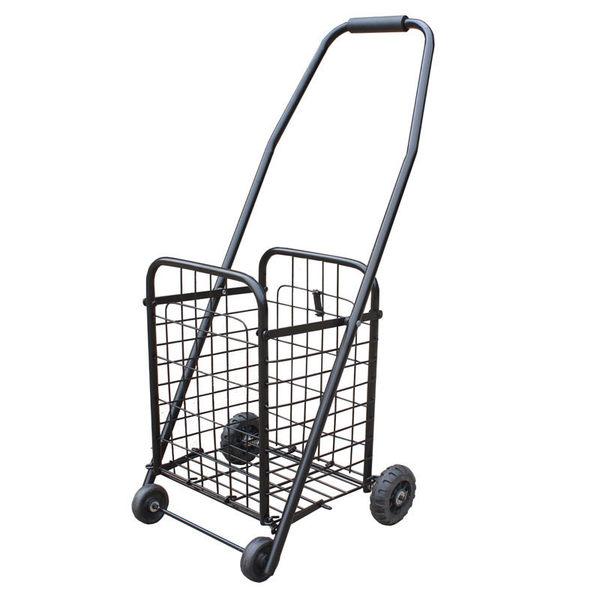 小號購物車買菜車 老人便攜折疊手拉車小拖車家用推車菜籃車鐵質WY全館免運