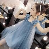 現貨 女童紗裙夏裝兒童吊帶連衣裙蓬蓬裙【倪醬小舖】
