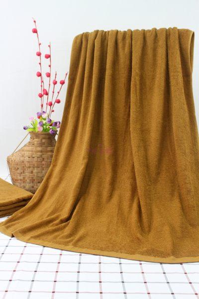 素色加大浴巾 / 焦糖色 / 450g 90x150cm 純棉 / 美容民宿用 / 台灣專業製造【快樂主婦】