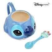 日本限定 迪士尼商店 Disney Store 史迪奇 大臉版 馬克杯&湯匙套組