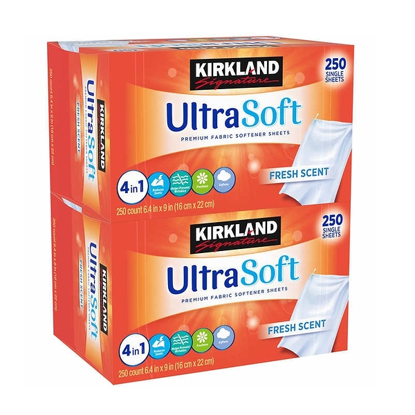 (美國直購) Kirkland Signature Fabric Softener Sheets, 250-count, 2-pack