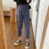 哈倫褲 夏季2020新款韓版ins寬鬆顯瘦學生百搭高腰九分休閒西裝哈倫褲女 嬡孕哺