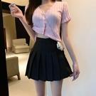 百褶裙短裙女 夏學院風學生高腰防走光超短裙半身裙 茱莉亞