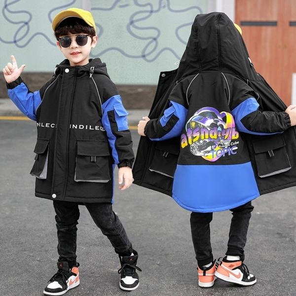 男孩羽絨外套男童外套 工裝秋冬男寶寶棉衣 中大童韓版外套羽絨服 兒童棉服加絨風衣夾克外套