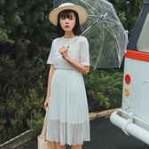連身裙-假兩件甜美氣質蕾絲時尚女連衣裙73rx23[巴黎精品]