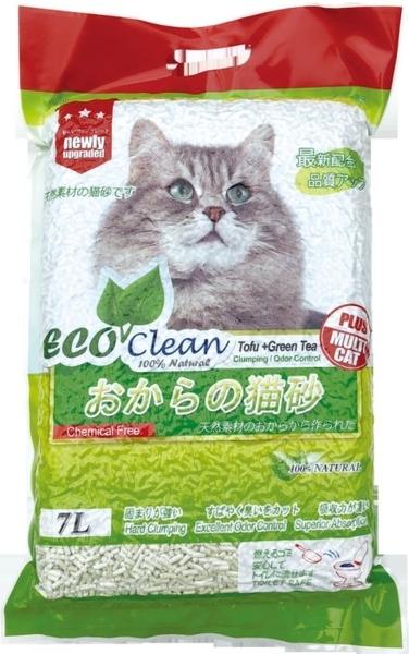 *KING WANG*【6包組-免運】《ECO艾可豆腐貓砂-原味|綠茶|玉米|活性碳》7L/包 貓砂 環保 除臭