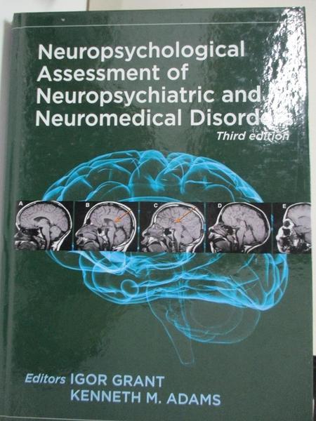 【書寶二手書T1/大學理工醫_KFT】Neuropsychological Assessment of Neuropsychiatric…