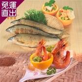 金車 鮮蝦+香魚 超值組 K (蝦-中x4+香魚-公x4)【免運直出】