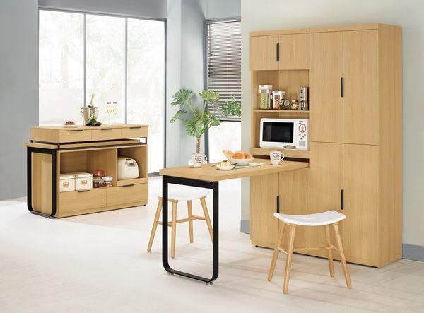 【森可家居】達拉斯6尺高四門收納櫃 7CM402-3 餐櫃 廚房櫃 碗盤碟櫃 木紋質感
