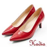 ★2018 春夏新品★本週下殺kadia.氣質素面羊皮尖頭高跟鞋(8003-64紅色)
