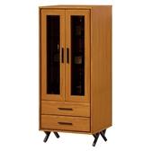 【森可家居】安德里2 尺中櫃8ZX603 3 客廳收納高櫃酒櫃木紋 北歐工業風
