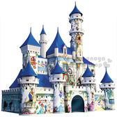 〔小禮堂〕迪士尼 3D立體造型拼圖《216片.城堡.盒裝》 4005556-12587