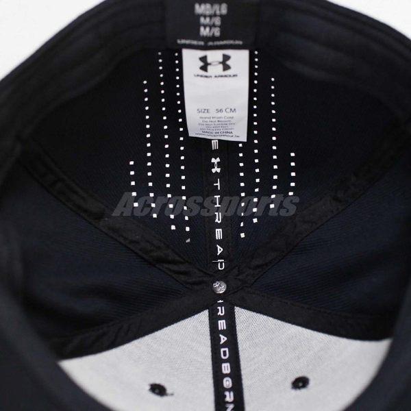 UA 帽子 Threadborn Training Cap 男款 訓練 健身房 棒球帽 老帽 經典 基本款 黑 【PUMP306】 1300074001