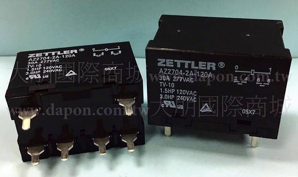 *大朋電子商城*AMERICAN ZETTLER AZ2704-2A-12D 繼電器Relay(2入)