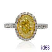ides愛蒂思 GIA黃彩鑽/橢圓型/Fancy Yellow/2.30ct / VS1戒指(限1件)