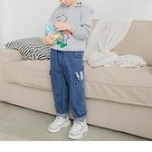 《QA1153》純棉條紋口袋休閒牛仔褲 OrangeBear