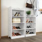 簡約現代客廳簡易鞋架多層家用組合SMY4535【123休閒館】