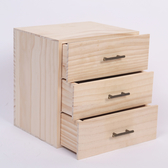 三層抽屜精油木盒子多特瑞精油收納實木盒