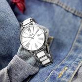 NATURALLY JOJO / JO96939-80F / 優雅簡約 藍寶石水晶玻璃 日期 陶瓷不鏽鋼手錶 白色 38mm