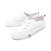 【南紡購物中心】WALKING ZONE(女) 經典綁帶休閒鞋女鞋-白(另有黑)