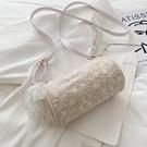 草編織洋氣斜背小包包女日系夏天韓版新款潮時尚仙女洋氣小包 智慧 618狂歡