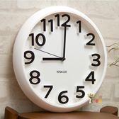 掛鐘 時尚創意靜音掛鐘現代簡約時鐘個性數字鐘錶 藝術客廳石英鐘T 4色