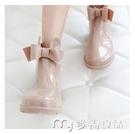 雨鞋雨鞋女時尚款外穿韓國可愛水鞋防水防滑雨靴大人成人短筒中筒膠 麥吉良品