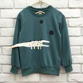 【韓版童裝】彈力毛圈立體鱷魚尾巴造型上衣(版小)-綠【BL18101307】