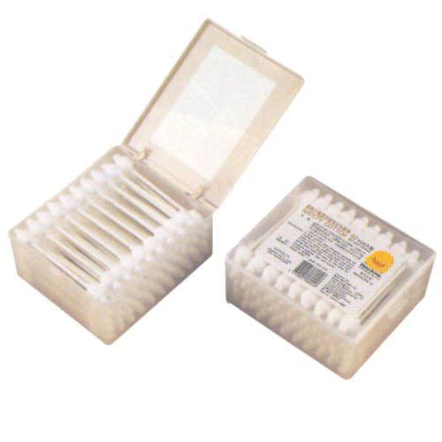 【奇買親子購物網】黃色小鴨盒裝安全棉花棒(60入)