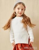 (快出)巴拉巴拉童裝兒童毛衣女寶寶針織衫秋冬清倉女童打底衫套頭衫
