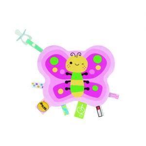 『121婦嬰用品館』拉孚兒 一手掌握布標安撫巾-蝴蝶