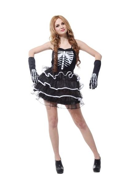 節慶王【W380141】搞怪女骷髏,萬聖節服裝/化妝舞會/派對道具/尾牙變裝/cosplay