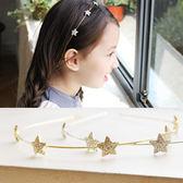 韓國星星款兒童發飾 女童五角星鑲鉆發箍 現貨韓國進口兒童頭箍  enjoy精品