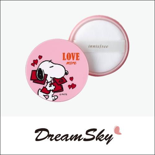 韓國 innisfree X Snoopy 史努比 聯名 礦物質控油 蜜粉 5g Dreamsky