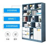 書架簡約落地置物架經濟型儲物臥室簡易帶門小柜子學生家用書柜WJ - 風尚3C