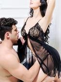 性感情趣睡裙透明誘惑火辣蕾絲調情睡衣女超薄網紗大碼春秋冰絲裙