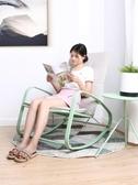 MWH曼好家搖椅成人午睡椅陽台躺椅搖搖椅北歐簡約懶人老人逍遙椅 MKS新年慶