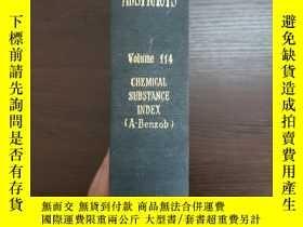 二手書博民逛書店CHEMICAL罕見ABSTRACTS Vol.114 CHEAICAL SUBSTANCE INDEX(A-Be