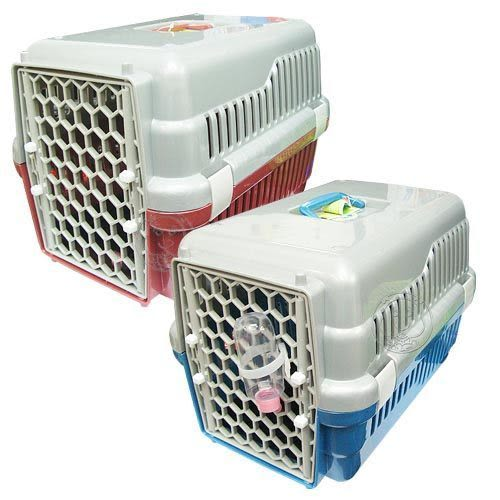 【zoo寵物商城】寵物專用雙開門運輸籠644A‧ (2種顏色)
