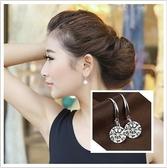 耳環 現貨 熱賣專櫃CZ鑽 氣質名媛 8MM 閃亮 八心八箭耳環 S92202 批發價 Danica 韓系飾品