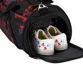 健身包運動包男女單肩包斜挎手提訓練包籃球包圓筒旅行包足球包潮【時尚家居館】