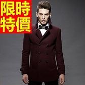 毛呢外套-羊毛優質溫暖短版男風衣大衣3色62n5[巴黎精品]
