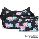 LeSportsac - Standard側背水餃包/流浪包-附化妝包 (夢幻花園) 7520P F936