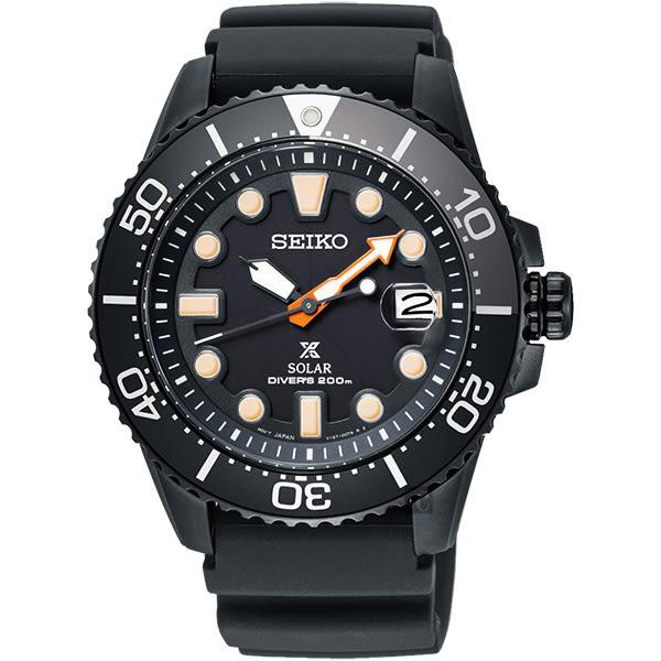 SEIKO Prospex DIVER SCUBA 太陽能限量錶-黑