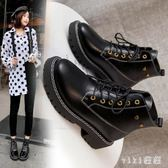 馬丁靴2019年新款秋季女靴潮鞋英倫風加絨加厚短靴子冬 XN7279【VIKI菈菈】