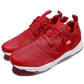 Reebok 休閒慢跑鞋 Furylite AOM 紅 白 基本款 休閒鞋 運動鞋 男鞋【PUMP306】 BS6064