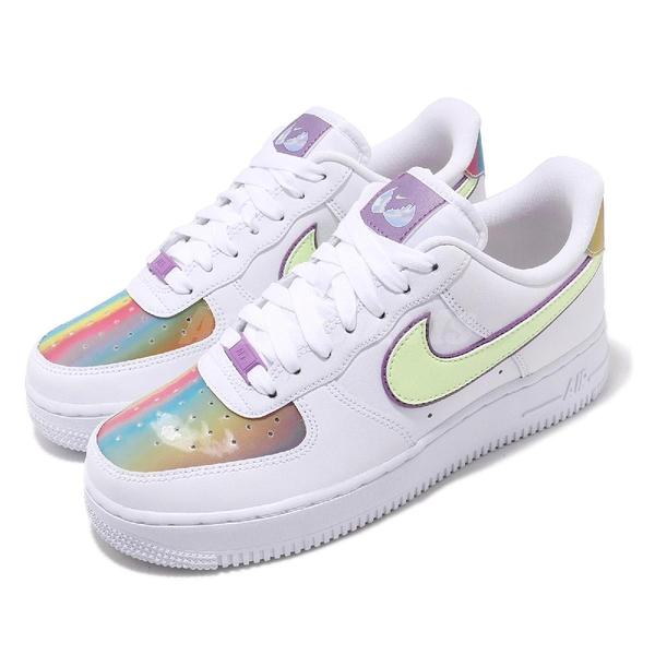 Nike 休閒鞋 Air Force 1 Easter 白 彩色 女鞋 復活節 彩蛋 漸層 運動鞋【PUMP306】 CW0367-100